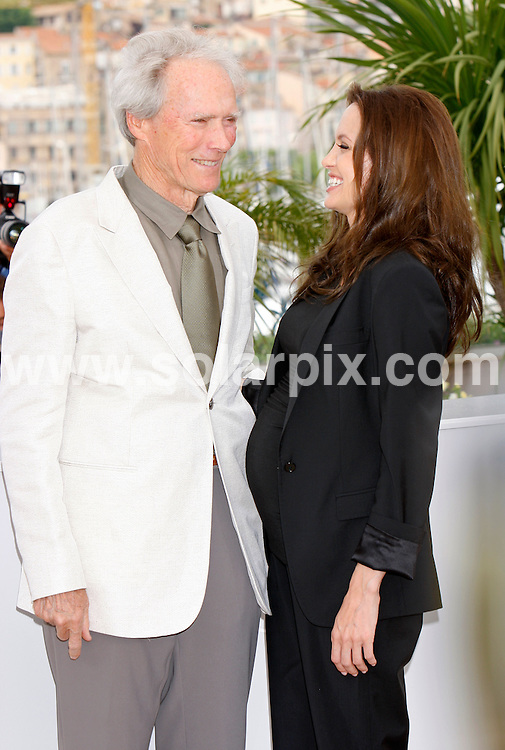 **ALL ROUND PICTURES FROM SOLARPIX.COM**.**SYNDICATION RIGHTS FOR UK AND SPAIN ONLY**.Clint Eastwood & Angelina Jolie at the photocall to the film 'The Exchange' at the 61st Cannes Film Festival in Cannes, France..JOB REF:  6472   CPR / Hans Heinz      DATE: 21.05.08.**MUST CREDIT SOLARPIX.COM OR DOUBLE FEE WILL BE CHARGED* *UNDER NO CIRCUMSTANCES IS THIS IMAGE TO BE REPRODUCED FOR ANY ONLINE EDITION WITHOUT PRIOR PERMISSION*