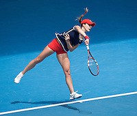ALIZE CORNET (FRA)<br /> Tennis - Australian Open - Grand Slam -  Melbourne Park -  2014 -  Melbourne - Australia  - 18th January 2014. <br /> <br /> &copy; AMN IMAGES, 1A.12B Victoria Road, Bellevue Hill, NSW 2023, Australia<br /> Tel - +61 433 754 488<br /> <br /> mike@tennisphotonet.com<br /> www.amnimages.com<br /> <br /> International Tennis Photo Agency - AMN Images