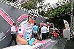 Miguel Angel Lopez (COL) Astana Pro Team Maglia Bianca at sign on before the start of Stage 21 of the 2018 Giro d'Italia, running 115km around the centre of Rome, Italy. 27th May 2018.<br /> Picture: LaPresse/Massimo Paolone | Cyclefile<br /> <br /> <br /> All photos usage must carry mandatory copyright credit (&copy; Cyclefile | LaPresse/Massimo Paolone)