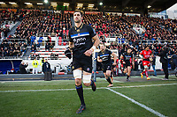 Luke Charteris and the rest of the Bath Rugby team run onto the field. European Rugby Champions Cup match, between RC Toulon and Bath Rugby on December 9, 2017 at the Stade Mayol in Toulon, France. Photo by: Patrick Khachfe / Onside Images