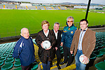 Members of Tralee Chamber Alliance and local Business support the regeneration project at Austin Stack Park. Pictured at the Ground on Wednesday were John O'Sullivan, Munster Bar, Anne Laide, Caballs Toymaster,  Kieran Ruttledge, TCA,  Aidan O'Connor, Greyhound Bar, Charman Austin Stacks GAA Club, John Drummey, TCA President