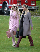 Tiffany Trump and Ivanka Trump walk across the South Lawn of the White House to join their father, United States President Donald J. Trump aboard Marine One as they depart from the South Lawn of the White House in Washington, DC for Florida where he and his family will spend the Thanksgiving holiday on Tuesday, November 20, 2018.  The President earlier took questions about  Ivanka's e-mails, various court cases and Saudi Arabia.<br /> Credit: Ron Sachs / CNP<br /> (RESTRICTION: NO New York or New Jersey Newspapers or newspapers within a 75 mile radius of New York City)