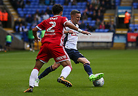 Bolton Wanderers' Craig Noone goes past Middlesbrough's Fabio<br /> <br /> Photographer Andrew Kearns/CameraSport<br /> <br /> The EFL Sky Bet Championship - Bolton Wanderers v Middlesbrough - Saturday 9th September 2017 - Macron Stadium - Bolton<br /> <br /> World Copyright &copy; 2017 CameraSport. All rights reserved. 43 Linden Ave. Countesthorpe. Leicester. England. LE8 5PG - Tel: +44 (0) 116 277 4147 - admin@camerasport.com - www.camerasport.com