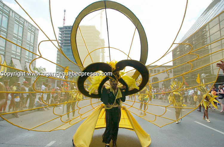 June 4 2002, Montreal, Quebec, Canada<br /> <br /> Members of various Caribean countries take part in the Carifiesta Parade June 6, 2002 in Montreal, Canada.