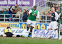 27/03/2010   Copyright  Pic : James Stewart.sct_jspa02_falkirk_v_hibernian  .::  SOL BAMBA CELEBRATES AFTER HE SCORES THE THIRD ::  .James Stewart Photography 19 Carronlea Drive, Falkirk. FK2 8DN      Vat Reg No. 607 6932 25.Telephone      : +44 (0)1324 570291 .Mobile              : +44 (0)7721 416997.E-mail  :  jim@jspa.co.uk.If you require further information then contact Jim Stewart on any of the numbers above.........