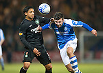 St Johnstone v Celtic.....19.02.13      SPL.Michael Doughty and Emilio Izaguirre.Picture by Graeme Hart..Copyright Perthshire Picture Agency.Tel: 01738 623350  Mobile: 07990 594431