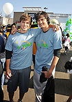 PACOIMA, CA. - October 10: Matt Lanter and Michael Steger arrive at The 2009 American Dream Walk To Benefit Habitat For Humanity at Lowe's Home Improvement on October 10, 2009 in Pacoima, California.
