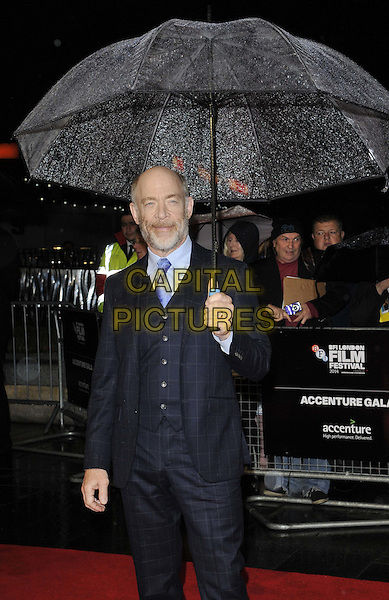 LONDON, ENGLAND - OCTOBER 15: Jonathan Kimble &quot;J. K.&quot; Simmons attends the &quot;Whiplash&quot; Accenture gala screening, 58th LFF day 8, Odeon Leicester Square cinema, Leicester Square, on Wednesday October 15, 2014 in London, England, UK. <br /> CAP/CAN<br /> &copy;Can Nguyen/Capital Pictures