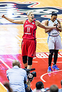 Washington, DC - Sept 17, 2017: Washington Mystics guard Elena Delle Donne (11) is fired up after a late rnu giving the Mystic the lead going into halftime during playoff game between the Mystics and Lynx at the Verizon Center in Washington, DC. (Photo by Phil Peters/Media Images International)