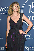 LONDON, UK. October 09, 2018: Tamsin Eggerton arriving for the 2018 IWC Schaffhausen Gala Dinner in Honour of the BFI at the Electric Light Station, London.<br /> Picture: Steve Vas/Featureflash