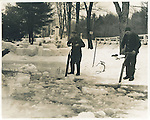 Cutting ice out of Johnson's Pond in Thomaston, 1935