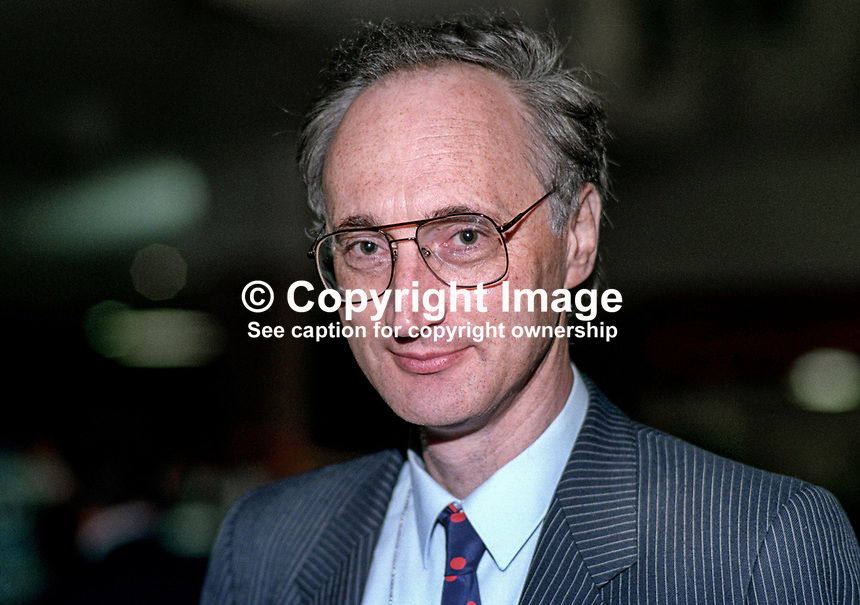 Sir George Young, MP, politician, Conservative Party, UK, 19901057GY.<br /> <br /> Copyright Image from Victor Patterson, 54 Dorchester Park, <br /> Belfast, UK, BT9 6RJ<br /> <br /> t1: +44 28 9066 1296 (from Rep of Ireland 048 9066 1296)<br /> t2: +44 28 9002 2446 (from Rep of Ireland 048 9002 2446)<br /> m: +44 7802 353836<br /> <br /> e1: victorpatterson@me.com<br /> e2: victorpatterson@gmail.com<br /> <br /> www.victorpatterson.com<br /> <br /> Please see my Terms and Conditions of Use at www.victorpatterson.com. It is IMPORTANT that you familiarise yourself with them.<br /> <br /> Images used on the Internet must be visibly watermarked i.e. &copy; Victor Patterson within the body of the image and copyright metadata must not be deleted. Images used on the Internet have a size restriction of 4kbs and will be chargeable at current NUJ rates unless agreed otherwise.<br /> <br /> This image is only available for the use of the download recipient i.e. television station, newspaper, magazine, book publisher, etc, and must not be passed on to any third party. It is also downloaded on condition that each and every usage is notified within 7 days to victorpatterson@me.com<br /> <br /> The right of Victor Patterson to be identified as the author is asserted in accordance with The Copyright Designs And Patents Act (1988).