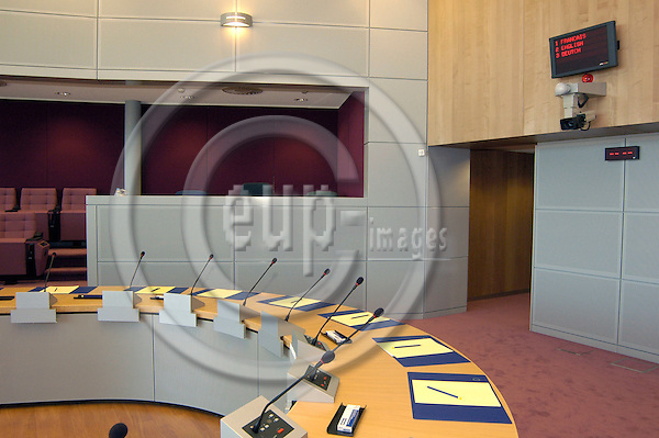 BRUSSELS - BELGIUM - 02 SEPTEMBER 2004 --Normal meeting room of the new EU Commission headquarters in the newly renovated Berlaymont Building.  PHOTO: EUP-IMAGES.COM / JAKUB PERSIN