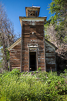 Old abandoned schoolhouse in Perrin, NE