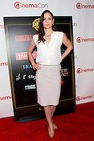 LAS VEGAS, NV - March 27: Sarah Wayne Callies pictured arriving at Warner Broters Presentation at Cinemacon 2014 at Caesars Palace in Las Vegas, NV on March 27, 2014. © Kabik/ Starlitepics