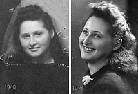 Left - Enlarged from [wedding?] photo from our family's Lodz Ghetto photos.<br /> <br /> Right - Irene (Simon Cooper's sister - Photo was found in Simon's wallet)