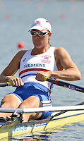 Poznan, POLAND,   GBR W1X, Katherine GRAINGER competing in the heats of thewomen's single scull on the first day of the, 2009 FISA World Rowing Championships. held on the Malta Rowing lake, Sunday 23/08/2009 [Mandatory Credit. Peter Spurrier/Intersport Images]