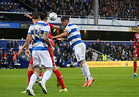 second goal scored for Queens Park Rangers by Grant Hall of Queens Park Rangers during Queens Park Rangers vs Middlesbrough, Sky Bet EFL Championship Football at Loftus Road Stadium on 9th November 2019