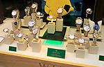 Winsor Bishop jewellery shop window display of expensive Rolex watches, Norwich, Norfolk, England, UK