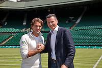 120620 Federer and Krajicek on Wimbledon centercourt