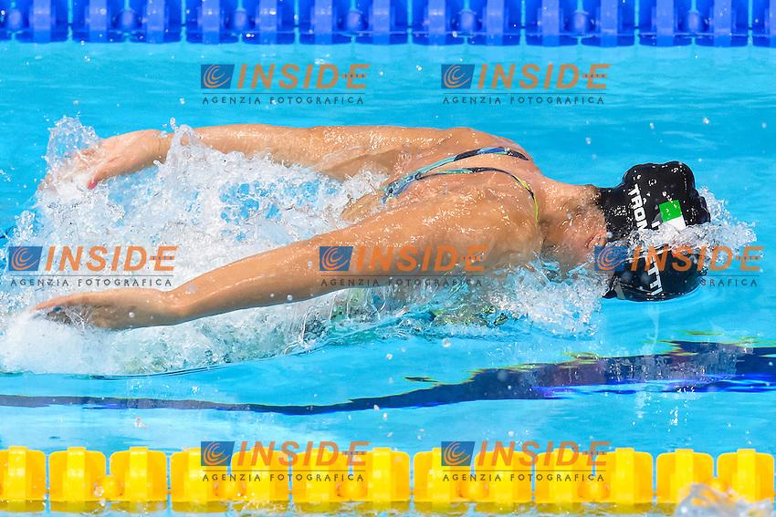 Lusia TROMBETTI ITA <br /> 200m Medley Women <br /> London, Queen Elizabeth II Olympic Park Pool <br /> LEN 2016 European Aquatics Elite Championships <br /> Swimming<br /> Day 10 18-05-2016<br /> Photo Andrea Staccioli/Deepbluemedia/Insidefoto