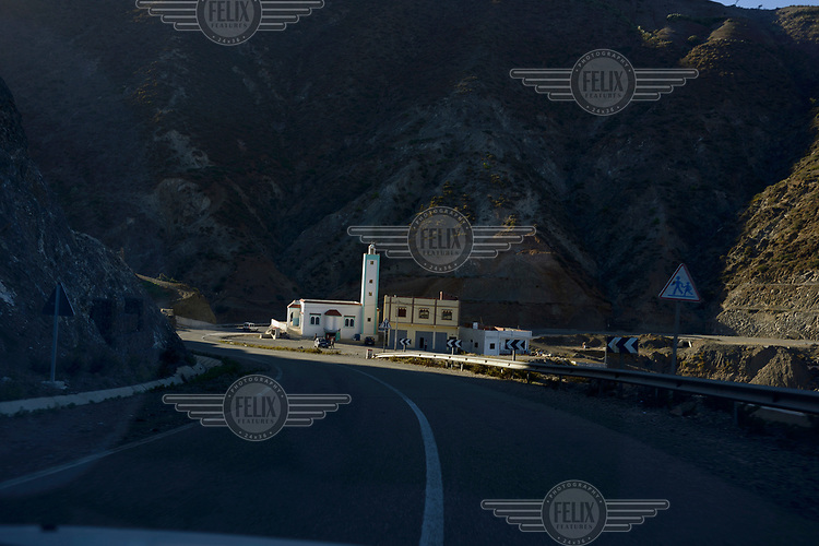 A mosque on the road between Tangier and Al-Houceima.