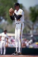 Pittsburgh Pirates pitcher Dave Otto (48) during Spring Training 1993 at McKechnie Field in Bradenton, Florida.  (MJA/Four Seam Images)