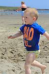 Dillon Galbraith<br /> enjoying the Sun and Sea in clogherhead beach<br /> Picture:  www.newsfile.ie