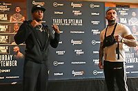 Anthony Yarde (L) and Dec Spelman during a Press Conference at the Town Hall & Apartments, Bethnal Green on 9th September 2020