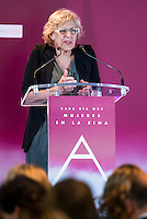 Madrid Mayor Manuela Carmena during the 25th edition of FEDEPE Awards at Jardines de Cecilio Rodriguez in Madrid, Spain. July 26, 2016. (ALTERPHOTOS/BorjaB.Hojas)