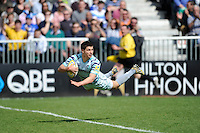 Ben Youngs of Leicester Tigers dives over to score a try during the Aviva Premiership match between Bath Rugby and Leicester Tigers at The Recreation Ground on Saturday 20th April 2013 (Photo by Rob Munro)