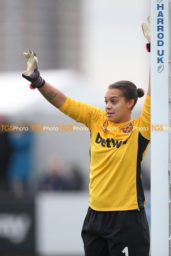 Becky Spencer of West Ham during West Ham United Women vs Arsenal Women, FA Women's Super League Football at Rush Green Stadium on 6th January 2019