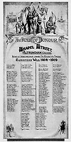 BNPS.co.uk (01202 558833)Pic: HistoryPress/BNPS<br /> <br /> Chapel Street 'Roll of Honour' unveiled in 1919.<br /> <br /> 'The Bravest Little Street in England'.<br /> <br /> The remarkable story of a humble street which was described by the king as 'the bravest in England' is told in a new book.<br /> <br /> The inhabitants of Chapel Street in Altrincham, Greater Manchester, displayed an unrivalled devotion of duty when Lord Horatio Kitchener made the rallying call for men to enlist in the First World War.<br /> <br /> From the tight-knit community of just 60 houses, a staggering 161 men volunteered - 81 of them on the first day.<br /> <br /> Tragically, however, 29 men from the street were killed in action, more than from any other street in England.