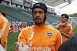 19 November 2011: Calen Carr. The Houston Dynamo held a practice session at the Home Depot Center in Carson, CA one day before playing in MLS Cup 2011.