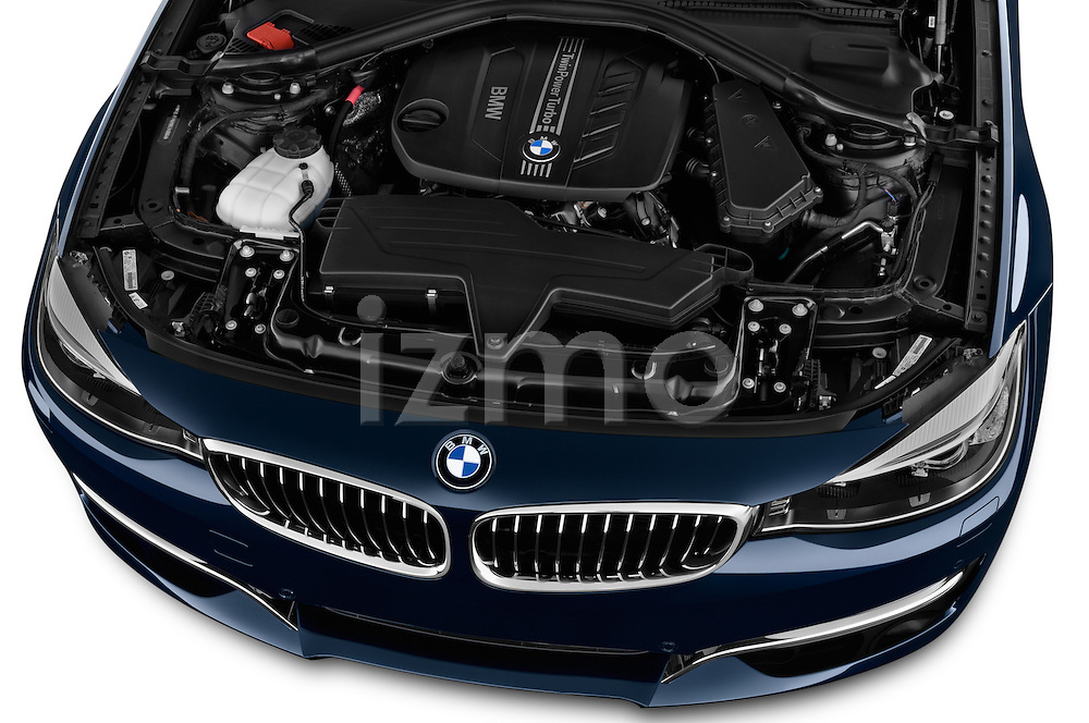 High angle engine detail of a 2013 Bmw SERIES 3 Luxury 5 Door Hatchback 2WD