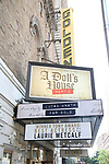 Tony Award flare for Laurie Metcalf at the 'A Dolls House Part 2' Marquee at The Golden  Theatre on June 13, 2017 in New York City.