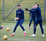 06.03.2020: Rangers training: Connor Goldson and George Edmundson