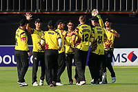 Somerset players celebrate the wicket of Varun Chopra during Essex Eagles vs Somerset, NatWest T20 Blast Cricket at The Cloudfm County Ground on 13th July 2017