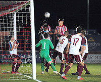 Lincoln City U18's Duncan Idehen scores the opening goal<br /> <br /> Photographer Andrew Vaughan/CameraSport<br /> <br /> The FA Youth Cup Second Round - Lincoln City U18 v South Shields U18 - Tuesday 13th November 2018 - Sincil Bank - Lincoln<br />  <br /> World Copyright © 2018 CameraSport. All rights reserved. 43 Linden Ave. Countesthorpe. Leicester. England. LE8 5PG - Tel: +44 (0) 116 277 4147 - admin@camerasport.com - www.camerasport.com