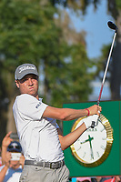 Justin Thomas (USA) watches his tee shot on 10 during round 1 of The Players Championship, TPC Sawgrass, at Ponte Vedra, Florida, USA. 5/10/2018.<br /> Picture: Golffile | Ken Murray<br /> <br /> <br /> All photo usage must carry mandatory copyright credit (&copy; Golffile | Ken Murray)