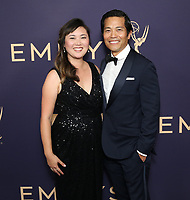 LOS ANGELES - SEPTEMBER 22: Candice Choi (L) and Co-Founder and President of Production at Bento Box Entertainment Joel Kuwahara attend the 71st Primetime Emmy Awards at the Microsoft Theatre on September 22, 2019 in Los Angeles, California. (Photo by Brian To/Fox/PictureGroup)