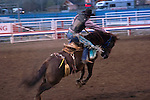 WY: Wyoming, Cody..Cody Night Rodeo..Photo #: yellow882..Photo copyright Lee Foster, 510/549-2202, lee@fostertravel.com, www.fostertravel.com..