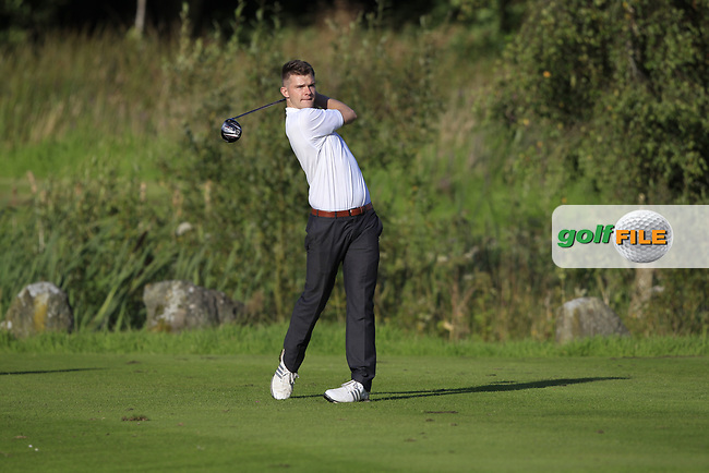 Raymond Duffin (Warrenpoint) during the final of the AIG Jimmy Bruen Ulster Final at Dungannon Golf Club, Dungannon, Tyrone, Ireland. 11/08/2017<br /> Picture: Fran Caffrey / Golffile