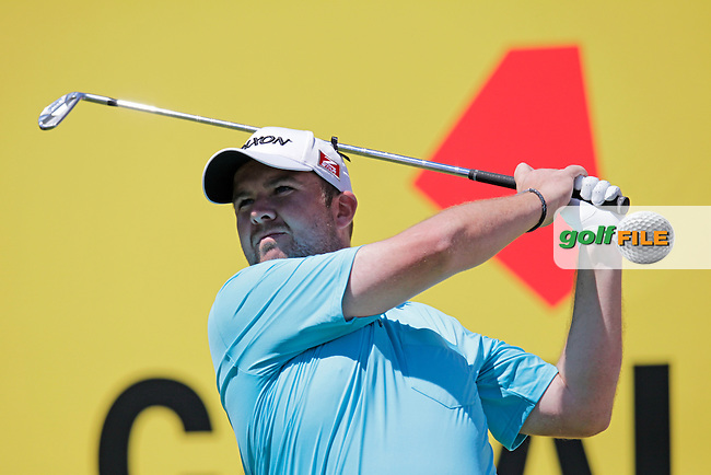 Shane Lowry (IRL) tees off the par3 8th tee during Thursday's Round 1 of the 2014 Open de Espana held at the PGA Catalunya Resort, Girona, Spain. Wednesday 15th May 2014.<br /> Picture: Eoin Clarke www.golffile.ie