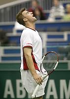 22-2-06, Netherlands, tennis, Rotterdam, ABNAMROWTT,  Lammer screams it out in his match against Stepanek