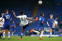 Christian Maghoma of Tottenham boots the ball upfield during Chelsea Under-23 vs Tottenham Hotspur Under-23, Premier League 2 Football at Stamford Bridge on 13th April 2018