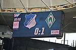 11.05.2019, PreZero Dual Arena, Sinsheim, GER, 1. FBL, TSG 1899 Hoffenheim vs. SV Werder Bremen, <br /> <br /> DFL REGULATIONS PROHIBIT ANY USE OF PHOTOGRAPHS AS IMAGE SEQUENCES AND/OR QUASI-VIDEO.<br /> <br /> im Bild: Endergebnis Anzeigetafel Endstand Feature<br /> <br /> Foto &copy; nordphoto / Fabisch