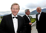 19-6-2015: An Taoiseach Enda Kenny pictured  at the 30th annual conference of the Worldwide  Ireland Funds in the Europe Hotel Killarney on Friday night Kieran McLoughlin, President and CEO, The Worldwide Ireland Funds, and John Fitzpatrick, Chairman, American -Ireland Fund.<br /> <br /> Over 180 donors from all over the world travelled for the conference at which it was announced that the goal of raising $200 million over the past six years was achieved. Since its foundation in 1976 the funds have raised more than $500 million for worthy causes in Ireland.<br /> Picture by Don MacMonagle <br /> <br /> Repro free photo from Ireland funds