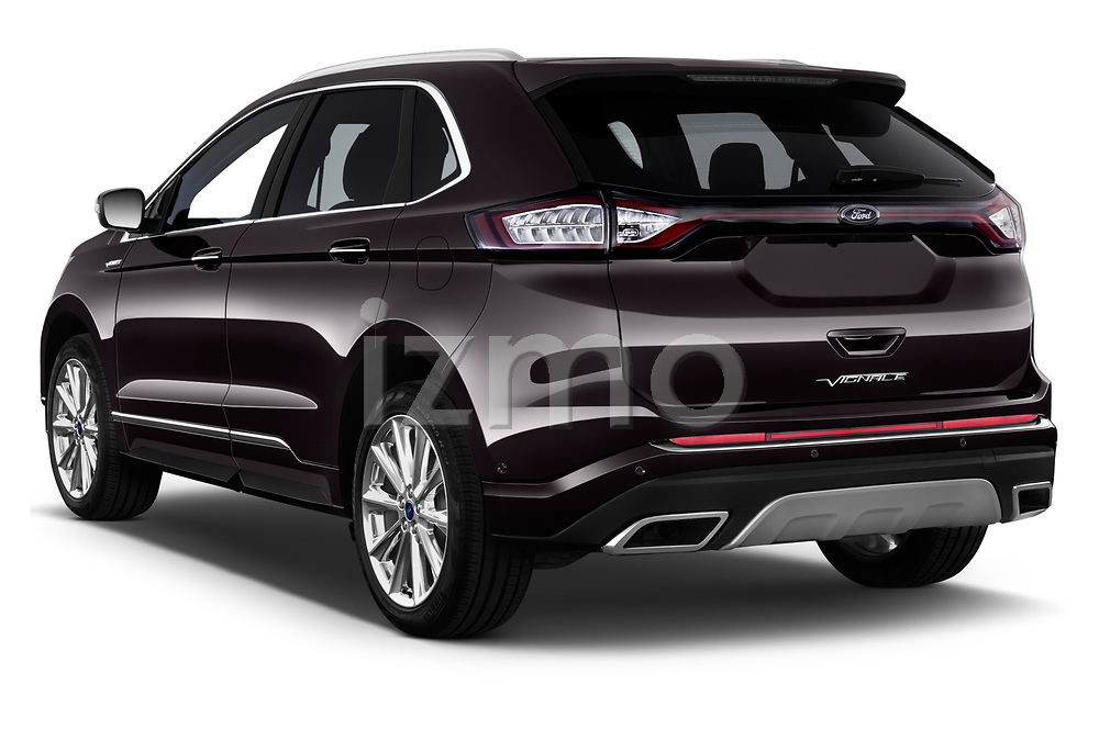 Car pictures of rear three quarter view of a 2017 Ford Edge Vignale base 5 Door SUV angular rear