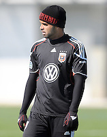D.C. United forward Maicon Santos (29) During the first training session after returning from Arizona, at Long Bridge Park in Arlington Virginia, Monday February 20, 2012.